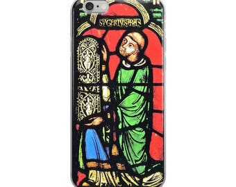 Medieval portrait iPhone Case from Middle Ages in 14th century Gothic style