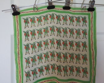 1970s musketeer scarf/ 1970s square scarf/ vintage scarf