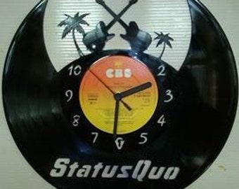 Status Quo Guitars Vinyl Record Clock