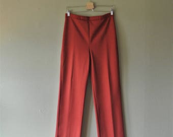 Vintage 70s Sears Polyester Pants; Burgandy