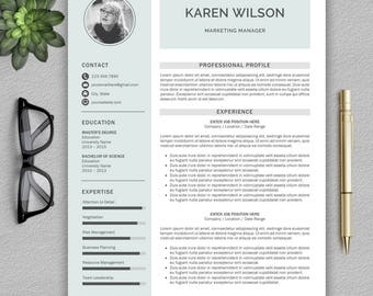 Modern Resume Template / Professional Resume Template for Word and Pages + Cover Letter | Modern CV  | Resume Template, CV Template