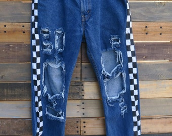 0476 - American Vintage - Street Styled - Checkered Pants