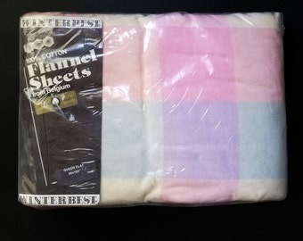 100% Belgium Cotton Flannel Queen Sheet Set - Never Used