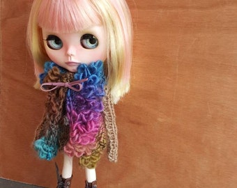 "Clothing: vest multicolor ""BOHEMIAN"" for dolhouse 1/6 (blythe, jecci five, icy doll, pullip...)"