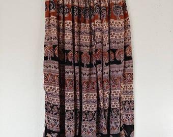 Vintage India Earth Skirt