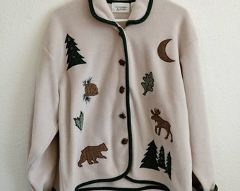 Vintage Bear Forest Sweater