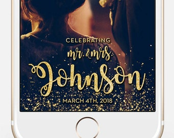 LIMITED TIME! Custom Snapchat Sparkle Gold Wedding Geofilter, Photo filter, Mr. and Mrs. Wedding filter, GeoFilter,Wedding Geofilter gw2