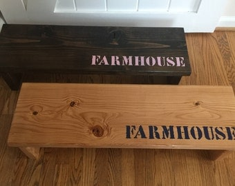 My First Farmhouse Bench