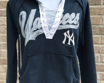 Vintage New York Yankees Lace-up Sweatshirt (S)