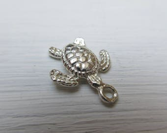 Turtle charm in 925 Silver 14 mm x 1