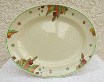Vintage Art Deco Dinner Large Serving Platter by Royal Doulton - Peach Pattern