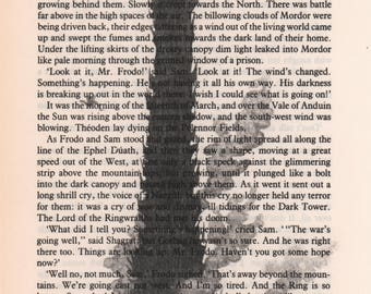 Tower of Barad Dur Art Print, Mordor Art Print, lotr Art, lotr Decor, lotr Book Art, Tolkien Art, lotr print