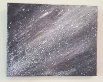 Abstract acrylic and mixed media mini painting