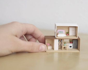 Brick Modern dollhouse