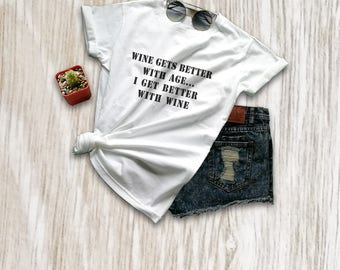 Funny wine shirt food and wine shirt womens tshirts hipster graphic tee mens drinking shirt wine lover birthday gifts ideas size XS S M L