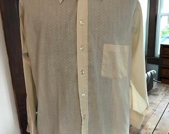 Vintage 1970's Grants Men's Wear Short Sleeve Dress Shirt
