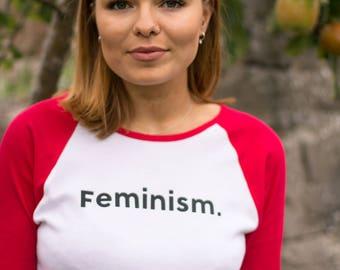 """Feminism Long sleeve t shirt 'Feminism"""" Slogan"""