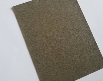 ARMY GREEN textured LEATHER faux leather sheet,8x11 faux leather sheets,fake leather,olive faux leather,vegan leather,faux leather fabric