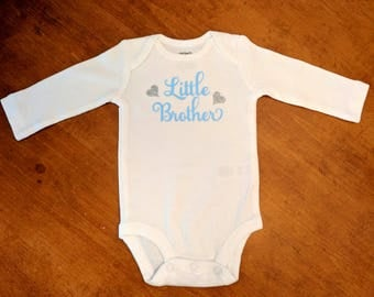 Little Brother Shirt - Newborn Brother Shirt - Coming Home Outfit - Brother Shirt - Little Brother -
