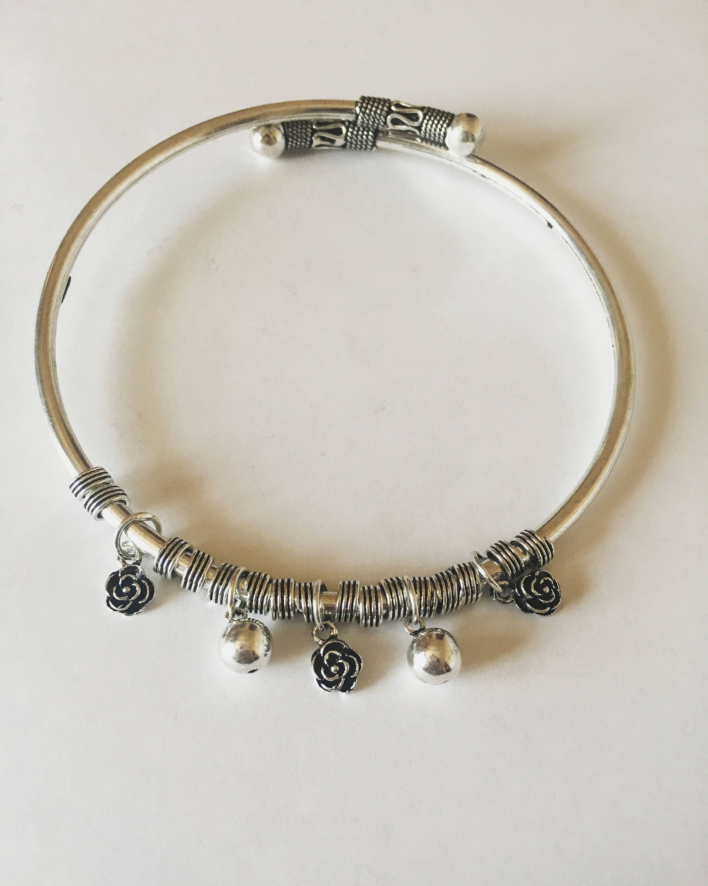 makes products from silver a aeravida elephants this k anklets artisan charm bracelet design set on little sterling ankle stylish and amazing chain jai for pa row adorable of details anklet plain tiny cute inch thai comes