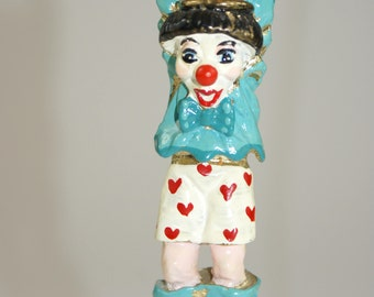 "1980 ""Skippy Swinging"" Ron Lee Clown Figurine 