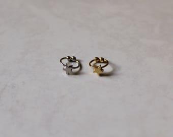 Gold and silver ear cuff~tiny ear cuff~minimalist ear cuffs~cartilage ~non pierced ear cuff~hoop~ gold and silver cuff hoop