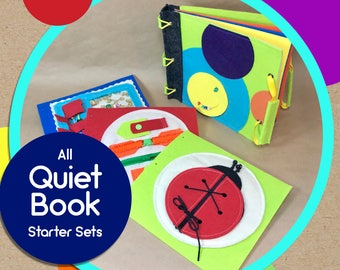 TinyFeats Quiet Book Starter Kits for Baby, Toddler & PreSchool- Soft Felt Activity Book for Early Childhood Development- Best Birthday Gift