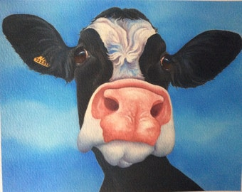"friesian cow painting ""Rose"""
