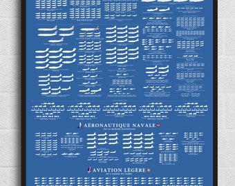 Poster de L'Armée de l'Air, L'Aéronauique Navale et l'ALAT. FREE SHIPPING