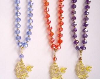 Tasbeeh Gift set - tasbeeh with Allah pendant in gold tone and matching bookmark . tasbih, Quran, muslim, hajj, eid, nikah umrah, islam,