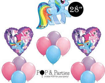 15 Pc My Little Pony Balloons, My Little Pony Birthday Party, My Little Pony Party Decorations,