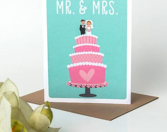 Wedding Card - Greeting Cards - Congratulations Cards - Gay Wedding Card - Marriage cards - New couple cards - Mr & Mrs