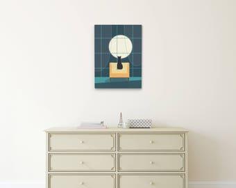 Cat Canvas Art Print, Nursery Canvas, Nursery Wall Art, Cat Wall Art, Kids Room Wall Art, Nursery Decor, Cat Illustration Canvas Art