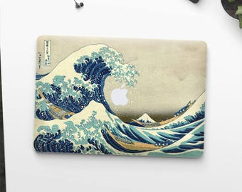 "Macbook Pro skin ""The Great Wave off Kanagawa"" by Hokusai Macbook Pro 13 skin Macbook Pro 15 skin Macbook Pro 2018 skin. Macbook Air skin."