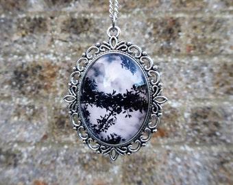 Handmade gothic cameo necklace