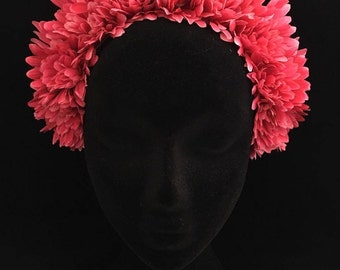 Dahlia // Pink Floral Crown Headpiece