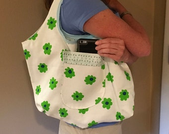 Tote, diaper bag, workout bag, shopping bag, yoga bag, Pilates bag, fitness bag, shopping tote, workout tote, reversible tote, yoga tote