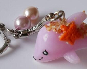 Pink Dolphin keychain
