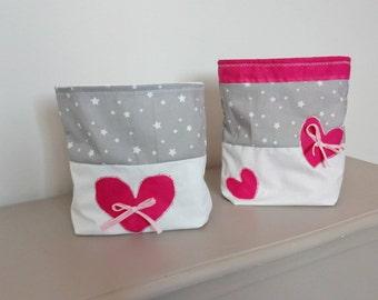 Set of bags for toiletries storage