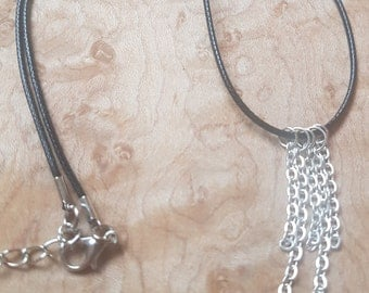 Chain Necklace, Sterling Silver Wire, Princess Length