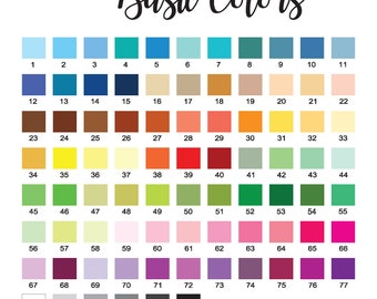 Sample Decal Color Chart