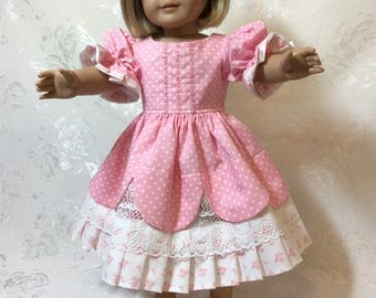 American Girl Doll Pretty Pink Polka-Dot Dress