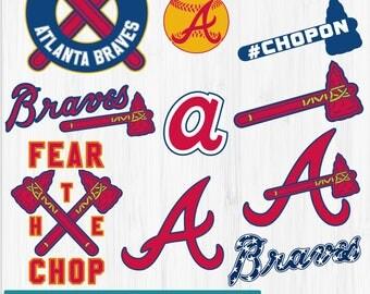 INSTANT DOWNLOAD_Atlanta Braves SVG, Atlanta Baseball Clipart, Atlanta Braves DXF, Baseball Clipart, Braves Clipart