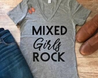 Women high quality tee, graphic shirt, Inspirational shirt, t-shirt, woman shirt, gray shirt, Mixed Girls shirt