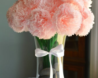 Floral Tissue Paper Carnation Centerpieces (tall)