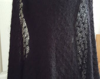 Black Mohair Shawl