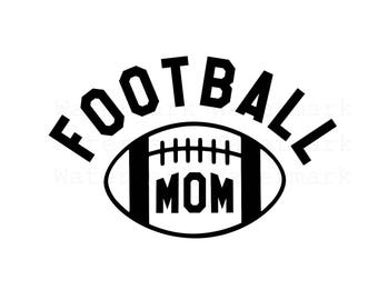 Football Mom SVG & Studio 3 Cut File Cutouts for Cricut Silhouette Brother Designs Logo Logos Decals Files Sport Decal College High School