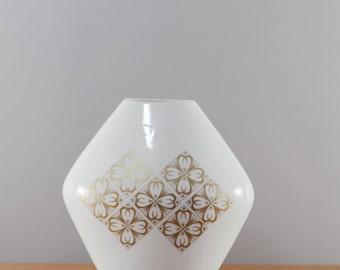 Fancy MidCentury vase with gold decor