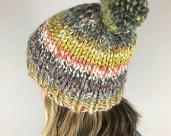 Knit Hat / Chunky Knit Hat / Coney Island