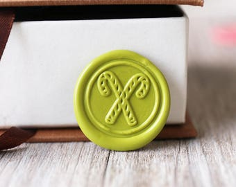 Candy cane wax seal stamp kit, Christmas cane seal, Christmas gift,party wax seal stamp set, wedding wax stamp